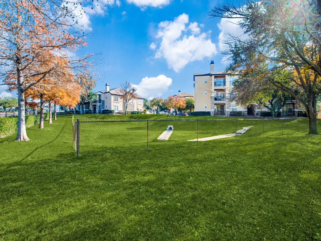 Dog park at Halston Frankford Apartments